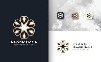 logotipo de flor de luxo vetor