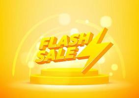 modelo de banner de venda flash. vetor