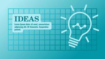 apresentação de ideias de negócios e modelo de infográfico vetor