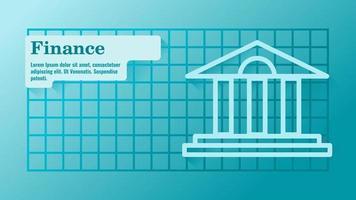modelo de financiamento de negócios ou apresentação de fundos vetor