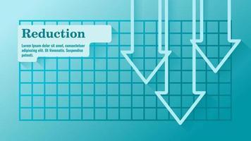 modelo de apresentação de negócios de redução de orçamento ou produção vetor
