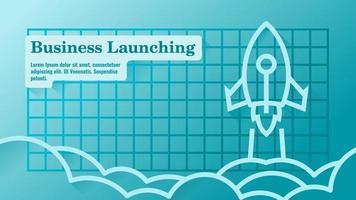 modelo de apresentação de lançamento de negócios ou produtos vetor
