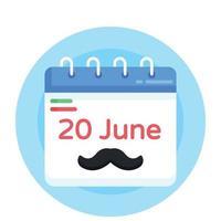 calendário do dia do pai vetor