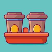 ilustração de conceito de bebida para viagem em estilo simples vetor