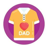 amo camisa do pai vetor