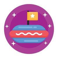 sanduíche de hambúrguer de cachorro-quente vetor