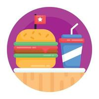 fast food e junk food vetor