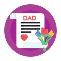 carta do pai e rascunho vetor