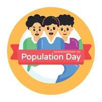 dia da população mundial vetor
