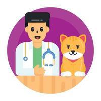 médico veterinário de gatos vetor