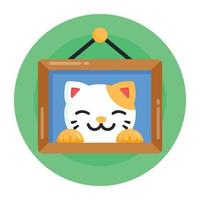 moldura de foto de gato vetor