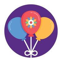 balões e hélio vetor