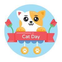 banner do dia do gato vetor