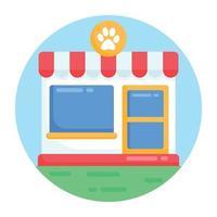 pet shop e mercado vetor