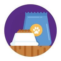 tigela de comida de gato vetor
