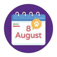 calendário do dia do gato vetor