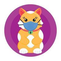 máscara facial de gato vetor