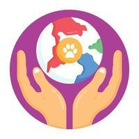 dia global do animal de estimação vetor
