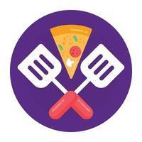 fatia de pizza italiana vetor