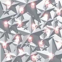 Fundo de estrelas vermelhas cinza e brilhante, ilustração vetorial