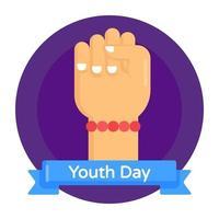 dia do poder da juventude vetor