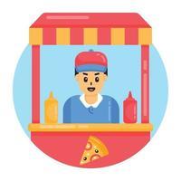 pizzaria e loja vetor