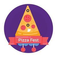 corte de pizza e comida vetor