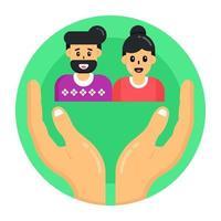 cuidado e retenção de gênero vetor