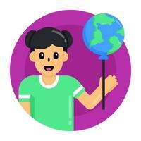 balão do dia da juventude vetor