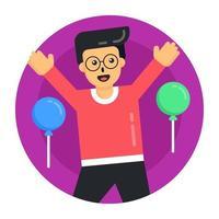festa e balões vetor
