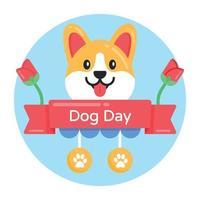 faixa do dia do cachorro vetor