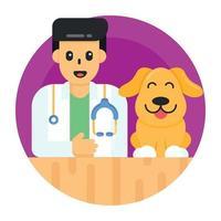 médico veterinário de animais vetor