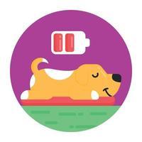cachorro sonhando e pensando vetor
