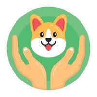 proteção para cães vetor