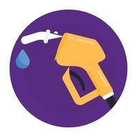 bico de combustível e óleo vetor