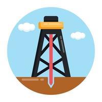 plataforma de campo de petróleo vetor
