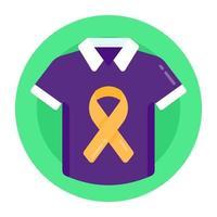 camisa de prevenção de suicídio vetor