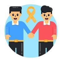 apoio suicida e amigos vetor