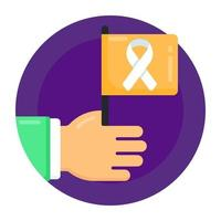 bandeira de conscientização do câncer vetor