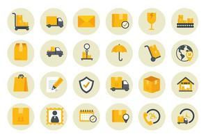 pacote de ícones de serviço de entrega vetor