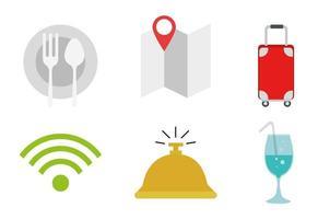 conjunto de ícones de hotel isolado desenho vetorial vetor