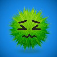 Emoticon de emoticon de peles 3D de alta detalhado, ilustração vetorial vetor