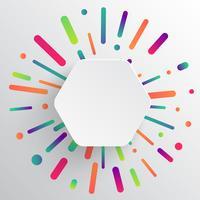 Modelo limpo e colorido para publicidade com setas azuis, ilustração vetorial