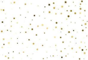 celebração de confetes dourados de estrelas douradas caindo vetor