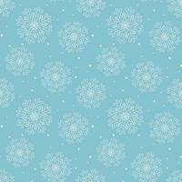 ilustração vetorial de padrão de flocos de neve brancos vetor