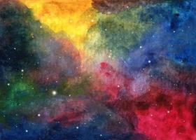 aquarela textura cósmica com estrelas. vetor