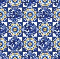 padrão sem costura com aquarela design de telha italiana vetor