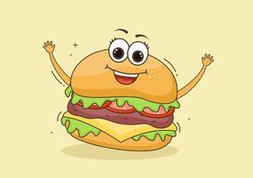 vetor de fundo de hambúrguer fast food
