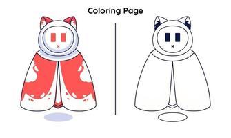 herói bonito com páginas para colorir. adequado para crianças vetor