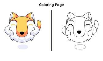 gato monstro bonito com páginas para colorir. adequado para crianças vetor